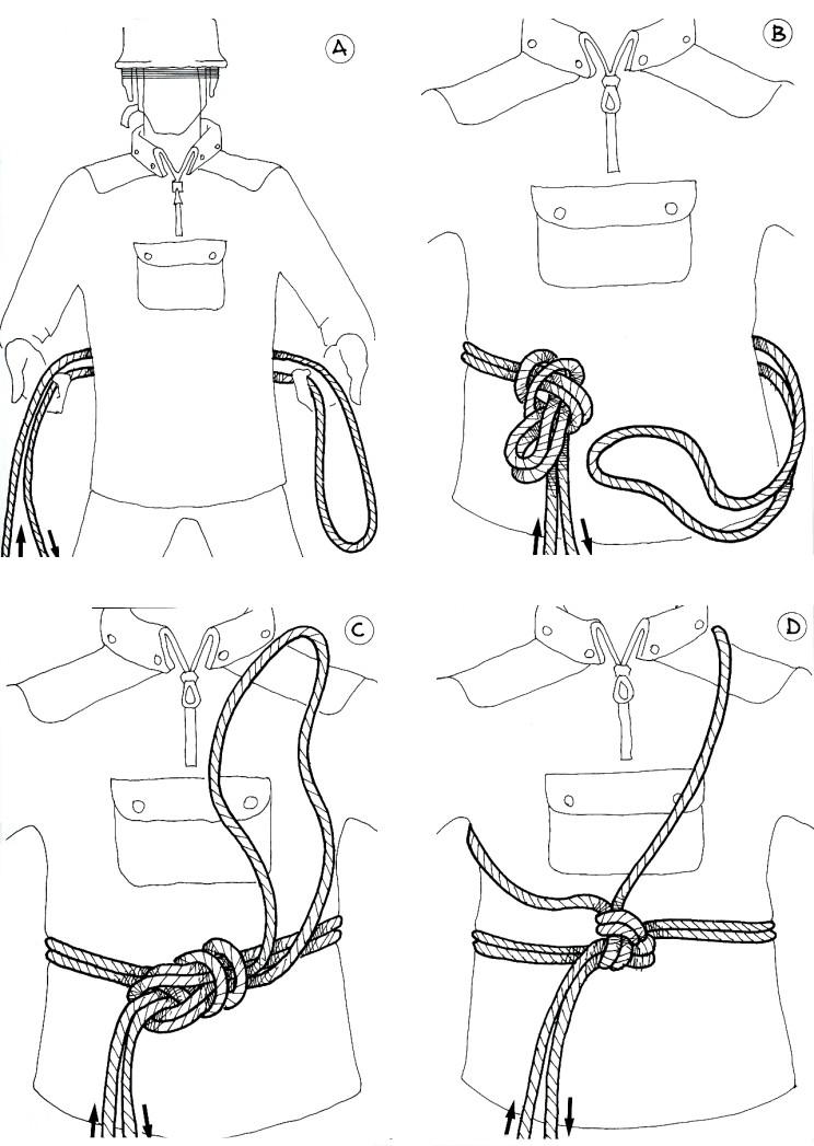 alpinismo e arrampicate  modi di legatura  modi di legarsi
