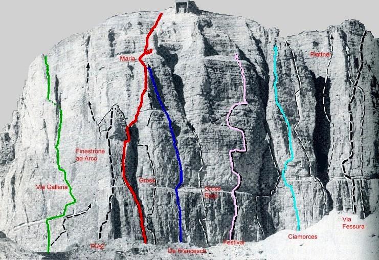 Alpinismo E Arrampicate Sass Pordoi Via Maria Via Maria